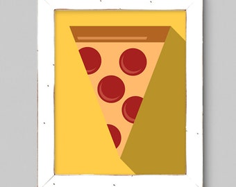 Pizza Art Print - 8x10