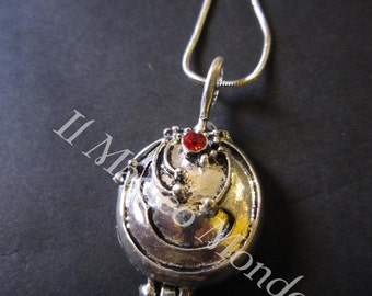 The Vampire Diaries necklace, Elena Gilbert, with vervaine inside.
