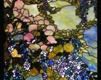 Tiffany style wisteria