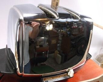 Vintage Sunbeam Radiant Control Retro Funky Auto Drop Chrome Toaster Works! epsteam