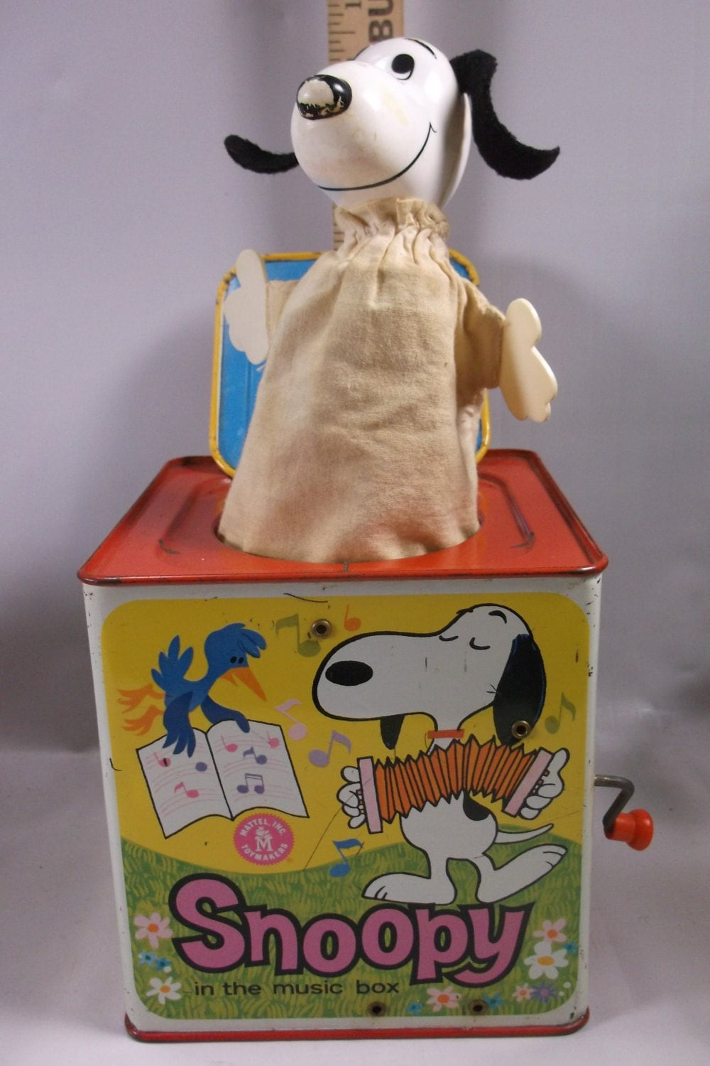 Old Mattel Toys : Vintage snoopy jack in the music box toy by mattel inc