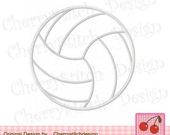 "Volleyball Sports ball Machine Embroidery Applique Design -4x4 5x5 6x6"""