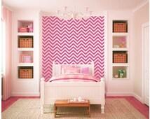 Chevron Wall Sheets Boys and Girls Vinyl Wall Decal Graphics Bedroom Home Decor
