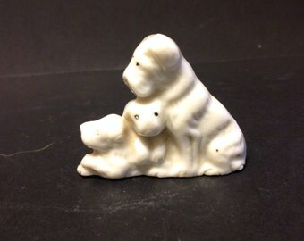 Vintage Ceramic Dog Family Figurines - DG20