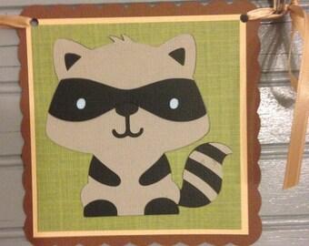 Woodland Animal Happy Birthday Banner
