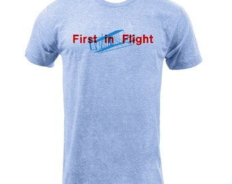 First In Flight Tee- Athletic Blue