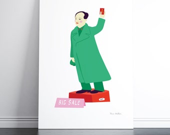 Chairman Mao on Cat Street ( limited-edition pigment print)