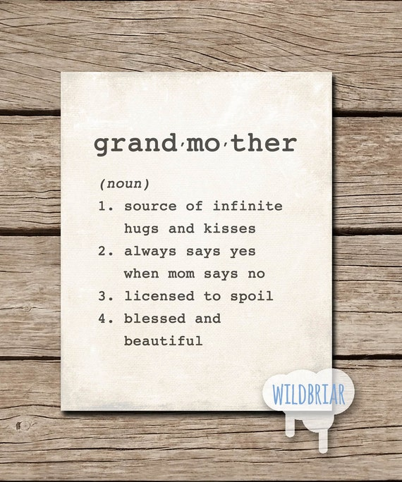 Definition of grandmother from the Collins English Dictionary The semicolon (;) The semicolon is used to mark a break between two main clauses when there is a balance or a contrast between the clauses.