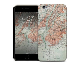 Old New York City Map from the end of 19th Century Phone Case for iPhone 7 and 7 Plus
