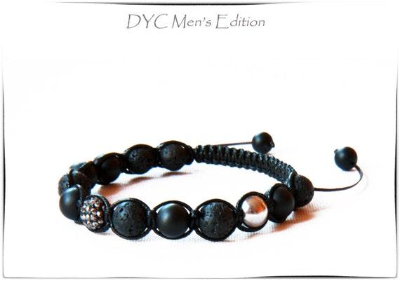 Men's Black Onyx Lava Protection Bracelet, Men's Jewelry, Men's Bracelet, Unisex Bracelet, Mala Bracelet, Men's Accessories, Unisex