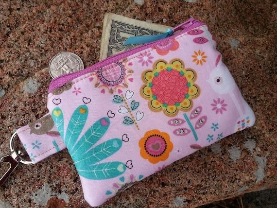 Peacock Coin Purse, Girl's Zipper Wallet