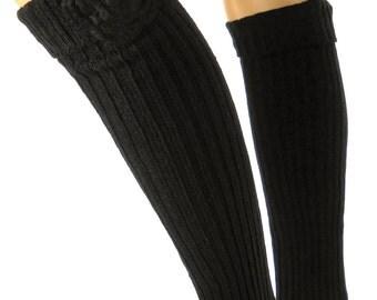 FP700 Stulpen Legwarmer Beinstulpen Strickstulpen Vintage schwarz
