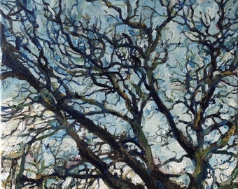 """A3 PRINT REPRODUCTION of original painting """"Tree"""" on archival paper"""