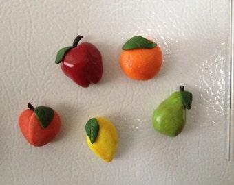 Set of Five Fruit Magnets
