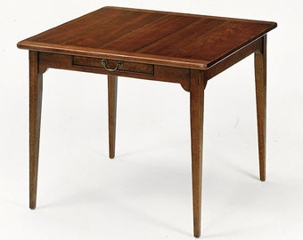 AC13 Lamp Table In Cherry, Dried Apple Finish, Antique Distressing