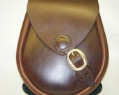 Handmade Buckled,  Brown Leather Lomond Sporran