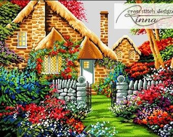 Hidden Cottage -Cross Stitch Pdf Pattern