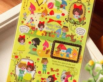 Snow White Paper Sticker  - 1 Sheet