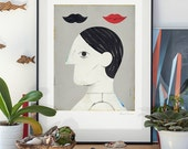 Untitled. lllustration art giclée print signed by the artist. A2 poster.