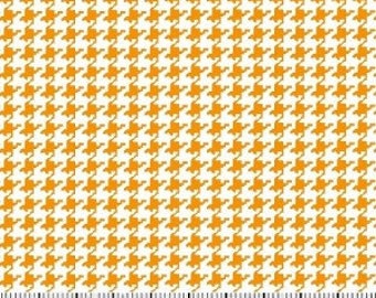 Gold Houndstooth Fabric --- 100 Percent Cotton --- Fabric By The Yard