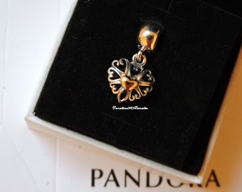 Pandora  Sterling Silver 14k Filled with Love