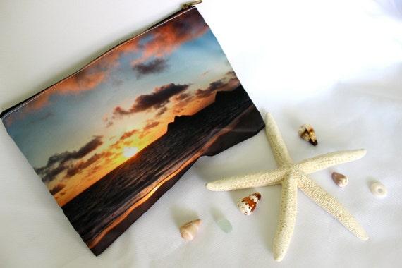 POLY-ZIP Photo Clutch -- Lanikai Sunrise