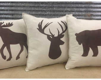 Decorative Moose Pillows : Decorative Pillow with Thankful Grateful Blessed by CreativePlaces