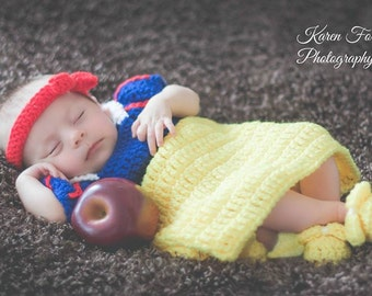 Snow White (Inspired) Dress set - Baby Photo props costume set