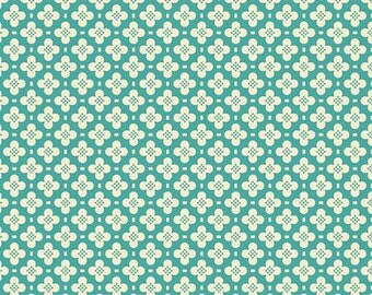 """Hopscotch in Blue from """"Sidewalks"""" by October Afternoon for Riley Blake Fabrics C3484 - Half Yard"""
