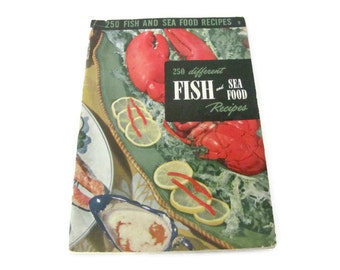 Vintage Seafood Recipe Booklet, 1950's Culinary Arts Institute, Fish, Seafood Recipes, Vintage Cookbook, 1950's Recipes