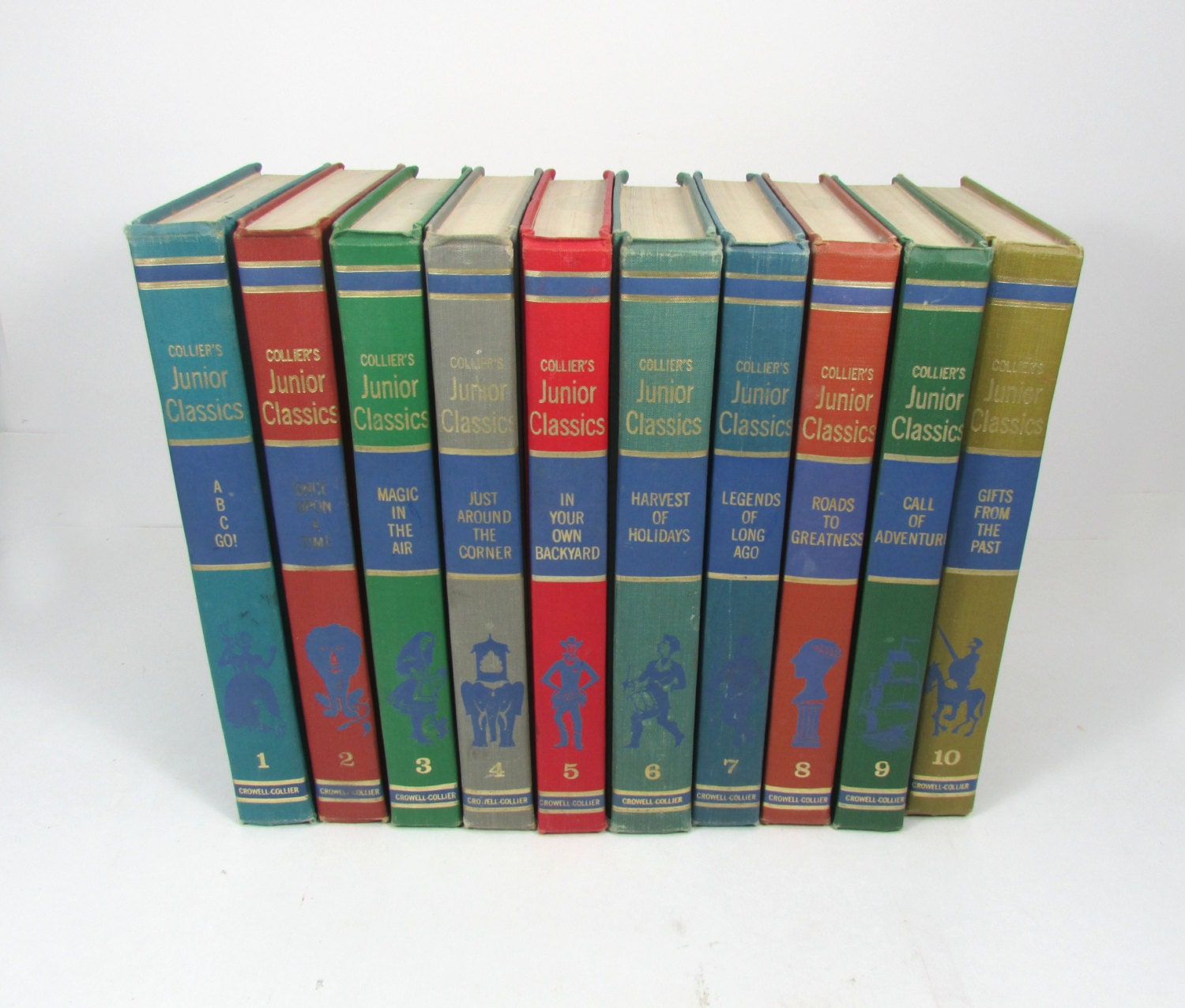 1962 Collier's Junior Classics Complete Set Volumes 1-10 Like New
