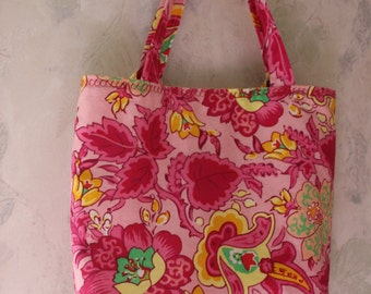 """Reversible 11""""x11""""  Tote Bag with Removable Card/Money Organizer"""