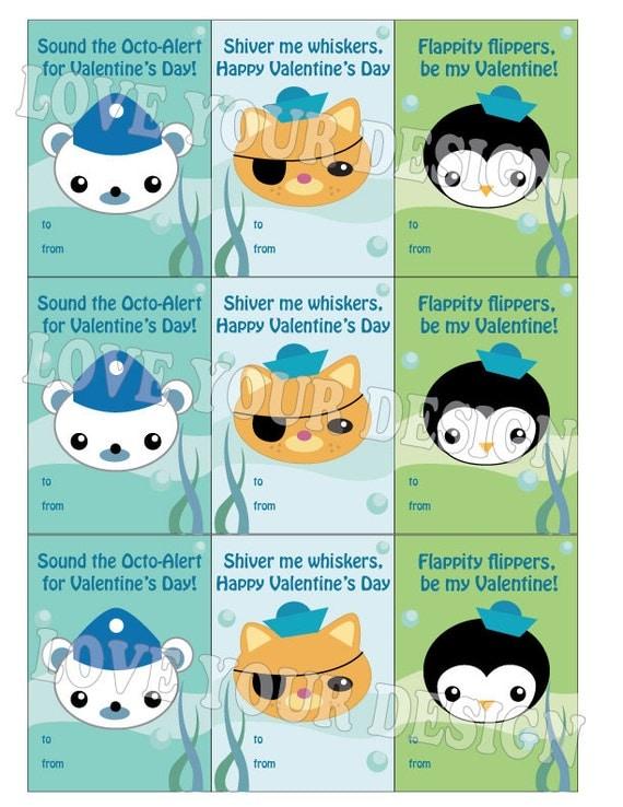 Octonauts Captain Barnacles Kwazii Peso Valentines Cards pdf