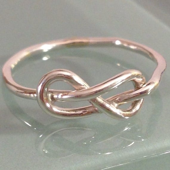 sterling silver infinity knot ring