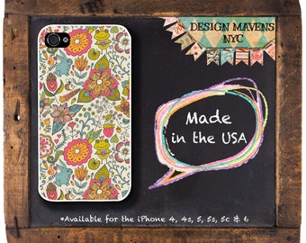 Fairy Tale Floral iPhone Case, Fall Floral, Fits iPhone 4, iPhone 4s, iPhone 5, iPhone 5s, iPhone 5c, iPhone 6, Phone Cover, Phone Case
