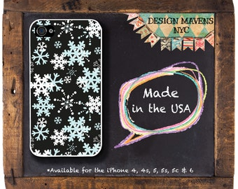 Snowflakes iPhone Case, Holiday iPhone Case, Winter iPhone Case, iPhone 4, 4s, iPhone 5, 5s, 5c, iPhone 6, 6s, 6 Plus, SE, iPhone  7, 7 Plus
