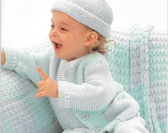 Patons Baby Wee Guys Patterns For Knitting Baby Clothing, Sweaters, Hats, Sailor Set