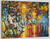 Passion Evening - Counted Needle Point and Cross Stitch Chart Patterns