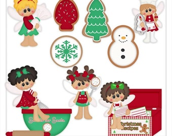 Cookies For Santa - Pixies-  Clip Art  *Download Only*