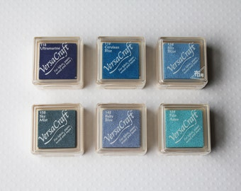 VersaCraft mini ink pad (blue/aqua colors)
