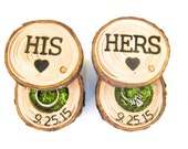 Ring Bearer Box | His and Hers Wedding Ring Box | Wood Ring Box