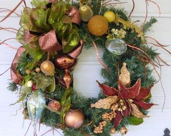 Elegant Christmas Wreath - Christmas Decorations - Christmas Wreaths - Wreaths - Holiday Door Decor