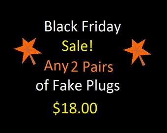 Fake Plugs, Black Friday, Small Business Saturday, Cyber Monday