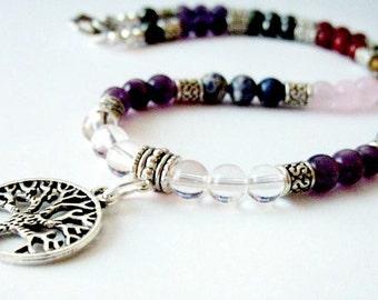 7 Chakra Necklace Semi Precious Toggle, Tree of Life, Om, Buddha, Pentagram, Balance, Harmonize, Reiki Chakra Jewellery Trending, Gift Idea