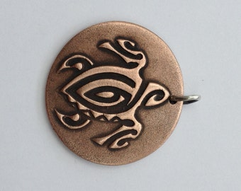 Pendant Copper - Turtle (H202)