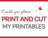 Print and Cut Printable Party Packages - Handcrafted Party Designs Kits - Party in a Box -