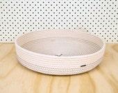 Mega Basket // Cotton rope // Custom Colour // Handmade Homewares, Clutter Catcher, Organiser, Tray, House warming, Wedding Present