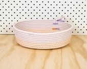 Bowl / Basket // OVAL Medium // Cotton Rope // Custom Colour // Handmade Home wares, Wedding Gift, Housewarming Present, Fruit Bowl, Kitchen