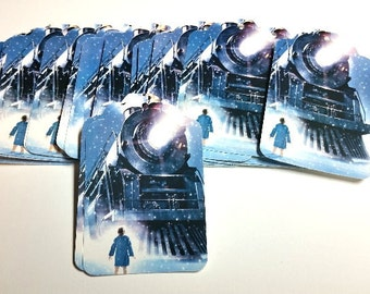 Polar Express Die Cut Holiday Tags. #EF-44