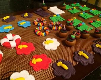 Luau Cake Topper Set